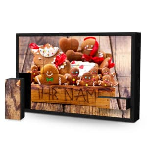 Schachtel Adventskalender mit eigenem Namen personalisieren - Motiv Weihnachtsbox Schachtel Adventskalender 2825 1 1