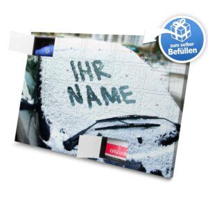 XL Adventskalender mit eigenem Namen zum selbst Befüllen - Motiv Schneescheibe selbst befuellen Adventskalender 1049 1 1