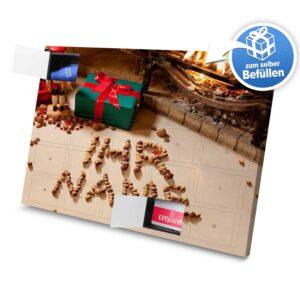 XL Adventskalender mit eigenem Namen zum selbst Befüllen - Motiv Kamin mit Nüssen selbst befuellen Adventskalender 2254 1 1