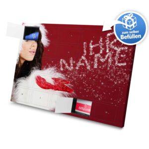 XL Adventskalender mit eigenem Namen zum selbst Befüllen - Motiv Weihnachtsglitzer selbst befuellen Adventskalender 2335 1 1