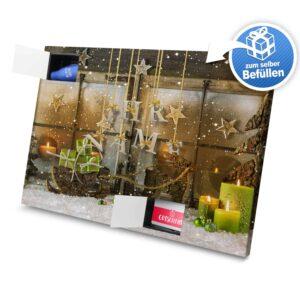 XL Adventskalender mit eigenem Namen zum selbst Befüllen - Motiv Weihnachtsscheibe selbst befuellen Adventskalender 2461 1 1