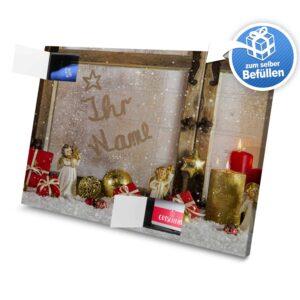 XL Adventskalender mit eigenem Namen zum selbst Befüllen - Motiv Weihnachtsfenster selbst befuellen Adventskalender 2462 1 1