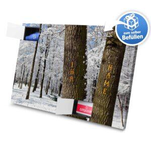 XL Adventskalender mit eigenem Namen zum selbst Befüllen - Motiv Bäume selbst befuellen Adventskalender 2493 1 1