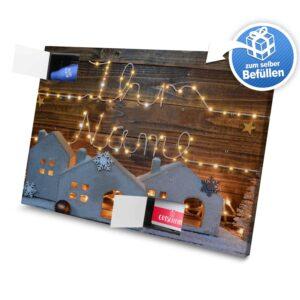 XL Adventskalender mit eigenem Namen zum selbst Befüllen - Motiv Lichterkette selbst befuellen Adventskalender 2596 1 1