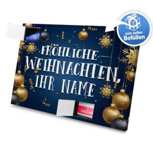 XL Adventskalender mit eigenem Namen zum selbst Befüllen - Motiv Fröhliche Weihnachten selbst befuellen Adventskalender 2637 1 1