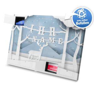 XL Adventskalender mit eigenem Namen zum selbst Befüllen - Motiv Papierschnitt selbst befuellen Adventskalender 2824 1 1