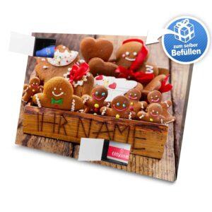XL Adventskalender mit eigenem Namen zum selbst Befüllen - Motiv Weihnachtsbox selbst befuellen Adventskalender 2825 1 1