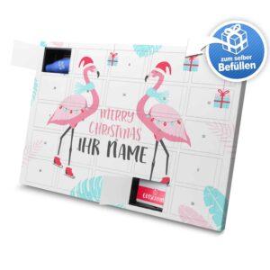 XL Adventskalender mit eigenem Namen zum selbst Befüllen - Motiv Flamingo selbst befuellen Adventskalender 2827 1 1