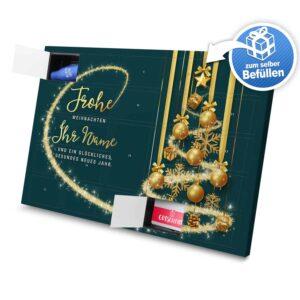 XL Adventskalender mit eigenem Namen zum selbst Befüllen - Motiv Frohe Weihnachten - Grün selbst befuellen Adventskalender 2989 1 1