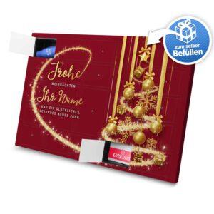 XL Adventskalender mit eigenem Namen zum selbst Befüllen - Motiv Frohe Weihnachten - Rot selbst befuellen Adventskalender 2990 1 1