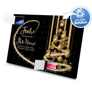 XL Adventskalender mit eigenem Namen zum selbst Befüllen - Motiv Frohe Weihnachten - Schwarz selbst befuellen Adventskalender 2991 1 1