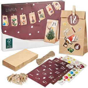 LIVAIA Adventskalender zum Befüllen Adventskalender 2021 512aAk