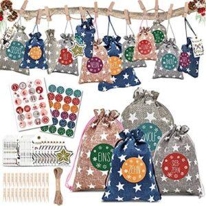 24 Geschenksäckchen zum Befüllen Adventskalender 2021 61vz6sfPMwL