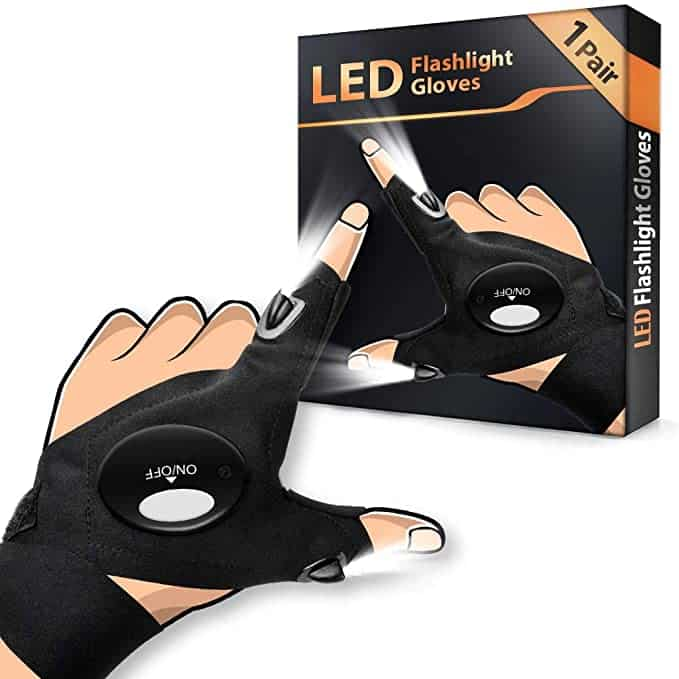 Angelzubehör LED Handschuhe